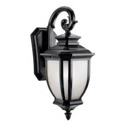 wall mount lighting fixtures kichler lighting 9040bk salisbury 1 light outdoor wall
