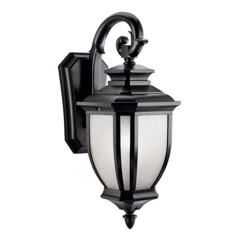 Outdoor Porch Light Fixtures Kichler Lighting 9040bk Salisbury 1 Light Outdoor Wall Mount Fixture Black With White Linen