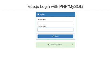 javascript tutorial login page vue js simple login with php mysqli free source code