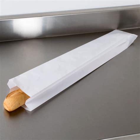 Baguette Bag paper bags white 102x152x660mm baguette bag per 1000