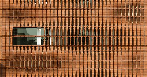 pattern architecture pinterest admun pleases both economy and privacy with brick screen