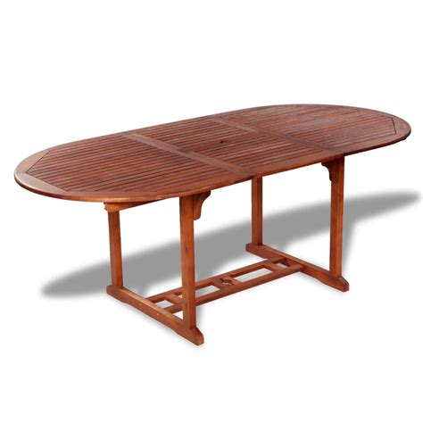 outdoor wood dining table vidaxl outdoor extendable dining table acacia wood