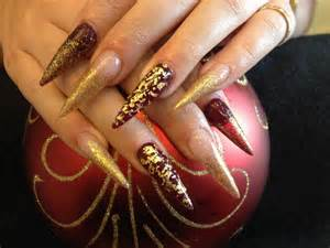The stiletto nail designs are perfect for parties and fancy occasions