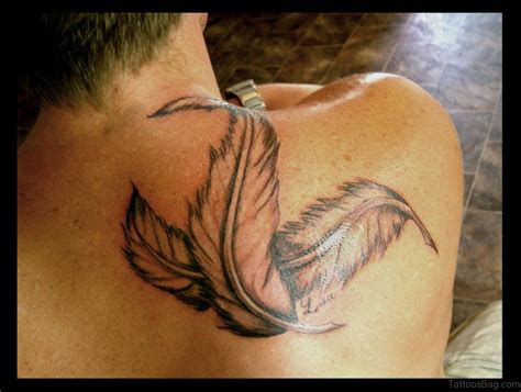 feather shoulder tattoo 40 excellent feather tattoos on shoulder