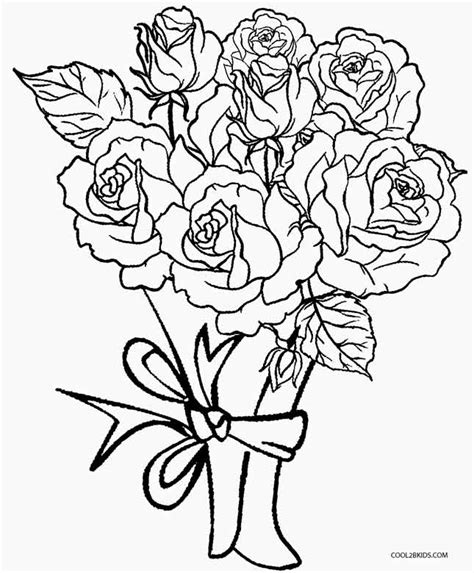 coloring pages flower rose printable rose coloring pages for kids cool2bkids