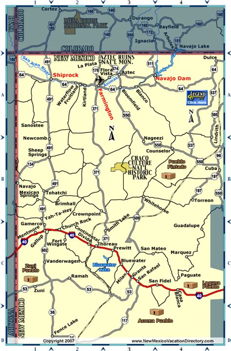 map of new mexico and colorado navajo dam new mexico map new mexico maps colorado