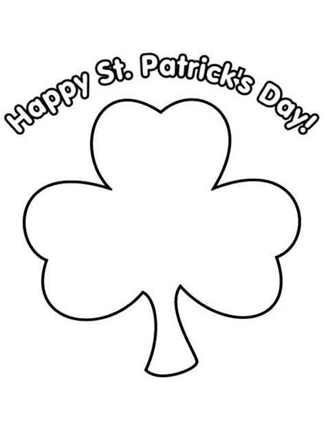 Top 10 St Patricks Day Coloring Pages For Kids Shamrock Coloring Page