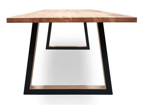 custom archer  victorian ash timber dining table black