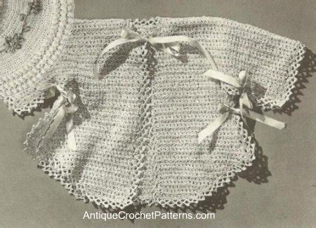 infant sacque baby clothes free crochet pattern