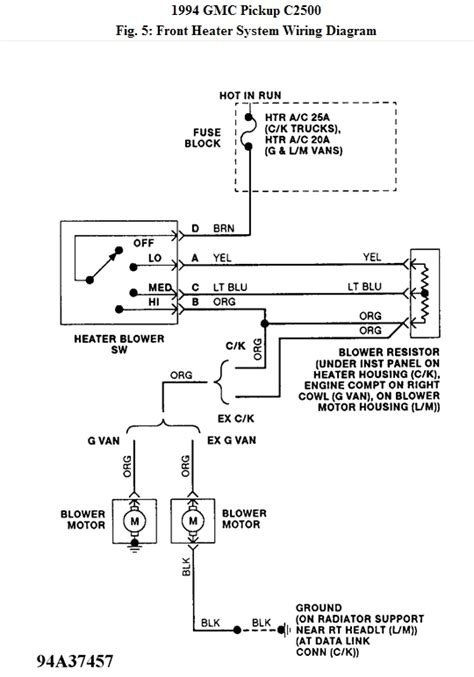 2006 gmc w3500 wiring diagram gmc truck wiring diagrams