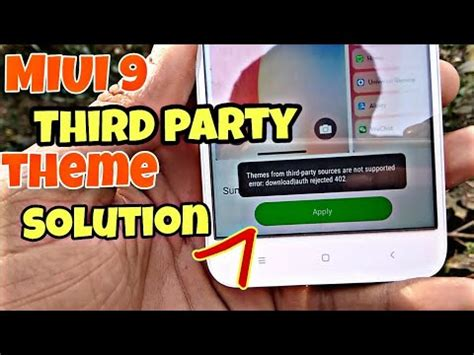 miui themes from third party miui 9 third party theme solution how to install third