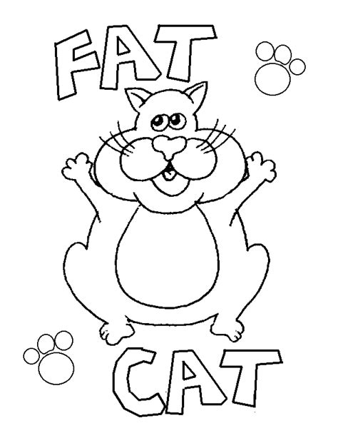 free coloring pages of fat cat