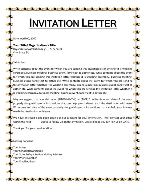 Conference Invitation Letter 2016 how to write a letter of invitation ks2 cover letter