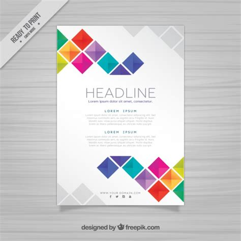 free design vector templates brochure template with squares vector free download