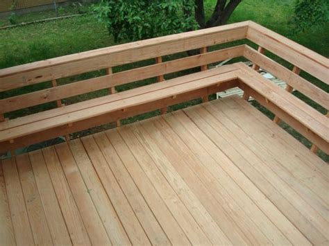 deck railing with bench seating decks with bench as railing evergrain deck rail w 4