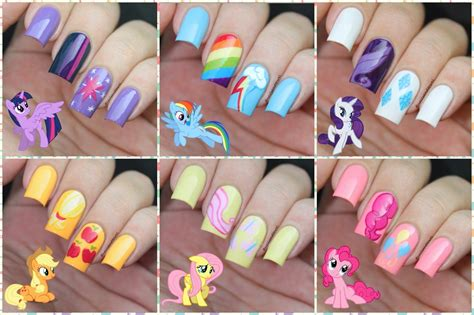 My Nails by My Nail Journal My Pony Nails Inspired Mon