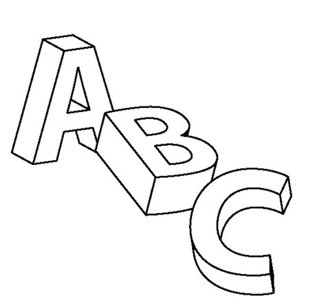 Kids Abc Alphabet Coloring And Learning Activity Pages Easy Abc Coloring Pages