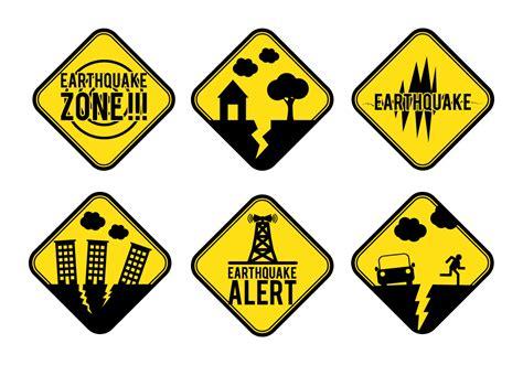 earthquake signs earthquake alert sign vector download free vector art