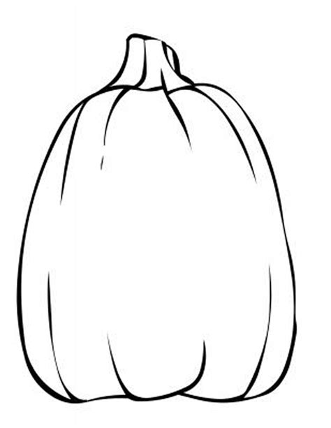 tall pumpkin coloring page blank pumpkin template coloring home