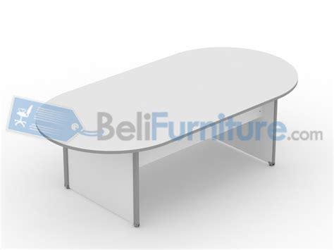 Meja Meeting Bulat Uno Uct8771 Walnut uno classic meja meeting oval 240 cm murah bergaransi dan lengkap belifurniture