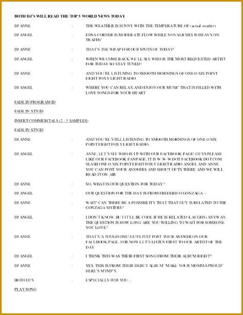 radio program schedule template fabtemplatez