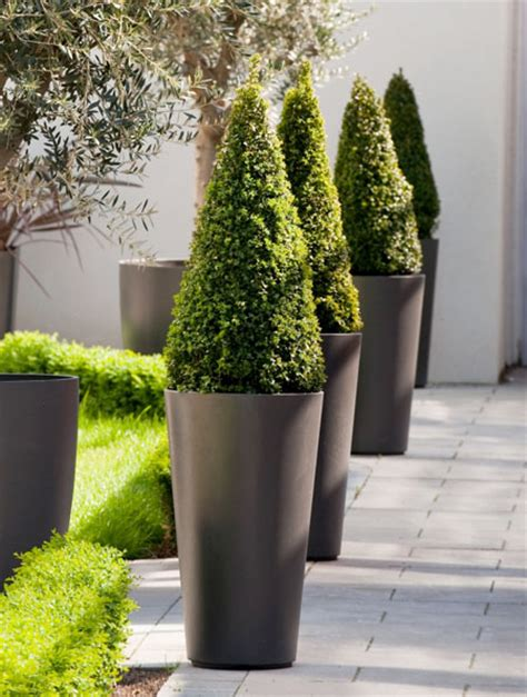 alto tall  tapered outdoor planter pot novacom