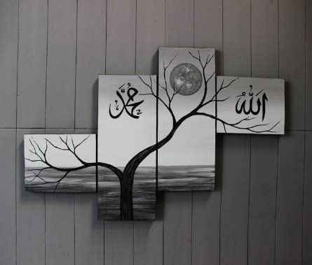 contoh lukisan dinding hitam putih keren  sedap