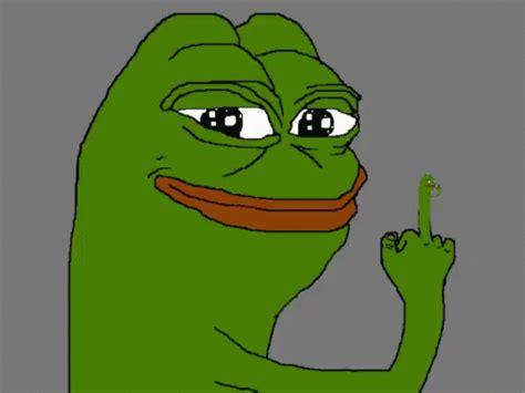 Middle Finger Meme - pepe meme gif pepe meme middlefinger discover share gifs