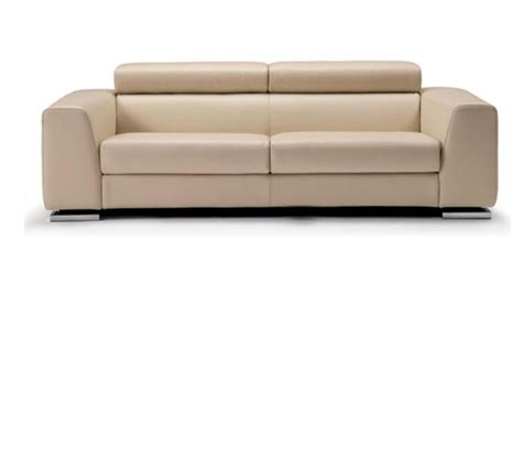 dreamfurniture 553 modern beige italian leather