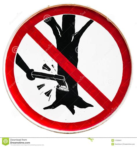 do not cut the tree to get the fruit do not cut tree sign stock image image 17333841