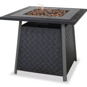 Gas Firepit Tables Uniflame Lp Gas Slate Finish Pit Table Walmart