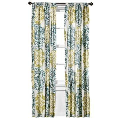 blue green drapes boho boutique mosaic brocade window panel blue green i
