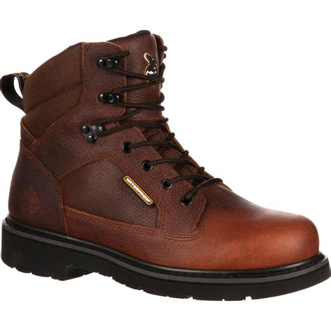 waterproof comfortable boots georgia glennville comfortable waterproof work boot gb00033
