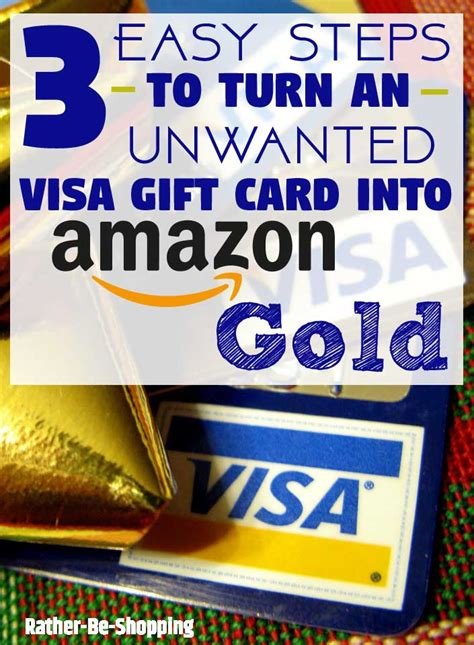 Can You Put Money On A Visa Gift Card - how to turn an unwanted visa gift card into amazon gold