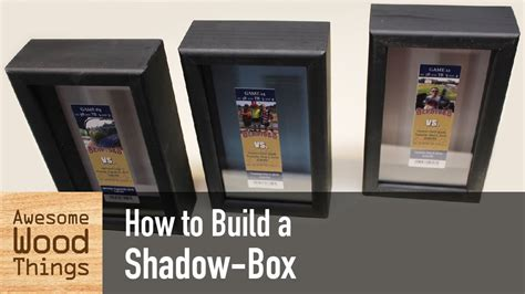 how to box a how to build a shadow box