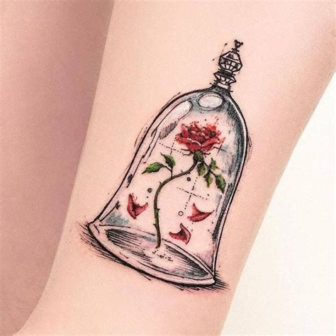 beauty and the beast rose tattoo 25 best ideas on matching disney