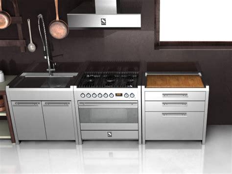 lavello freestanding modulo cucina freestanding in acciaio inox e legno sintesi
