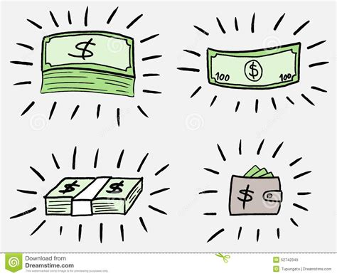 how to create money in doodle money doodle stock vector illustration of illustration
