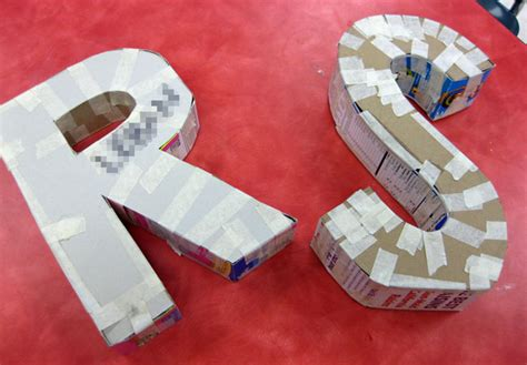 Make Paper Mache Letters - 24 diy paper mache letters guide patterns