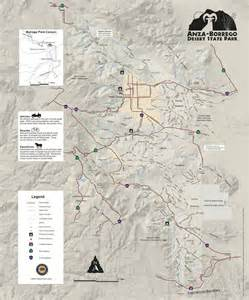 Anza Borrego State Park Map by Anza Borrego Desert State Park Maplets