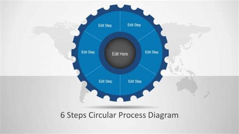 circular connected 4 steps powerpoint diagram slidemodel process flow powerpoint templates