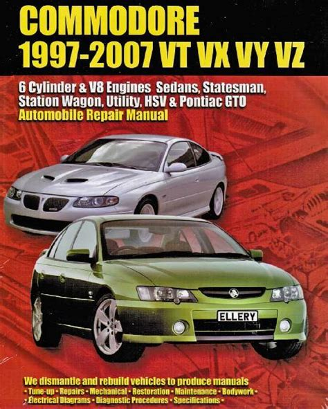 free service manuals online 2005 pontiac monterey navigation system holden commodore vt vx vy vz 6 cyl v8 engine 1997 2007 owners repair manual 1876720107