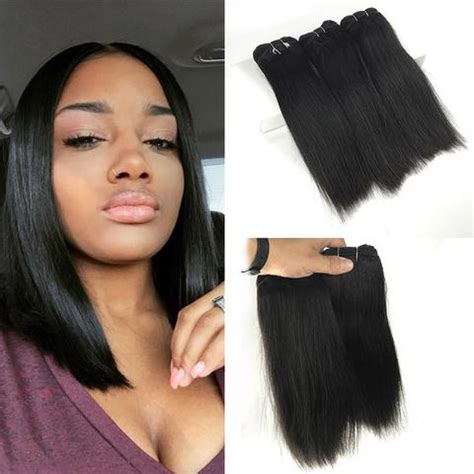 how long is 10 inch weave 3 bundles natural black straight unprocessed virgin human