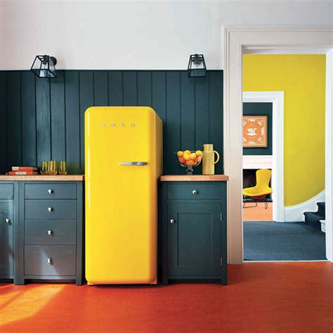 yellow kitchen appliances modern country style modern country loves smeg fridges
