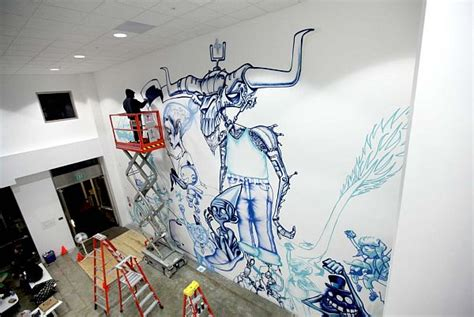 Mural Painting On Wall creative murals at facebook by david choe and jet martinez