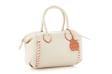 bailey quinn handbag love cream contrasting stab stitched grab bag by