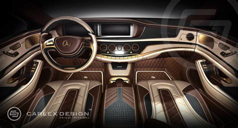 Kk Interiors by Carlex Mercedes S Class Interior 24k Gold And Crocodile