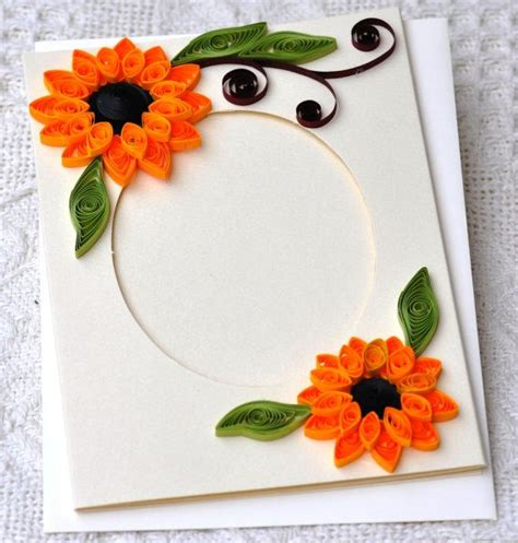 Handmade Paper Photo Frames Designs - paper quilling handmade quilled card blank card photo