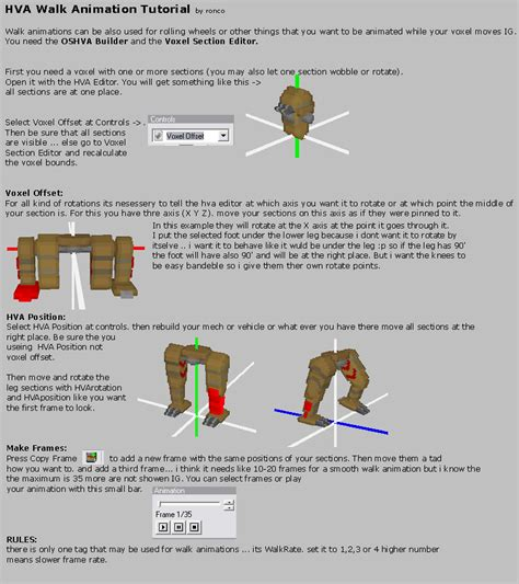 tutorial walking project perfect mod view topic hva walkanimation tutorial