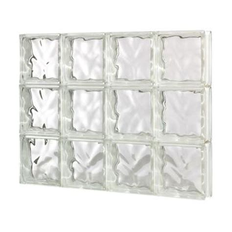 decora pattern solid glass block window 104176 the home